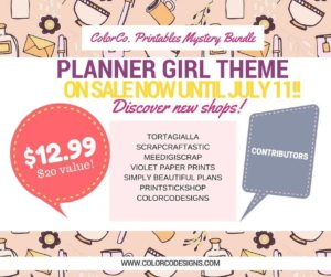 Planner Girl Printables Mystery Bundle