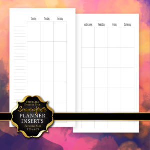 Blank Month Personal Planner Insert Printable Digital File