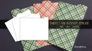 3 Tab Pocket Size Traveler's Notebook Cover Templates