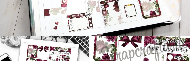 Valentine's Day Vibe: New Printable Planner Sticker Samplers