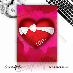 Bow Love Heart Free 5×7 (B6) Graphic Digital Download