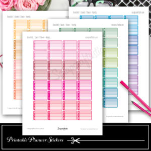 New Colorful Functional Printable Planner Stickers in the Shop