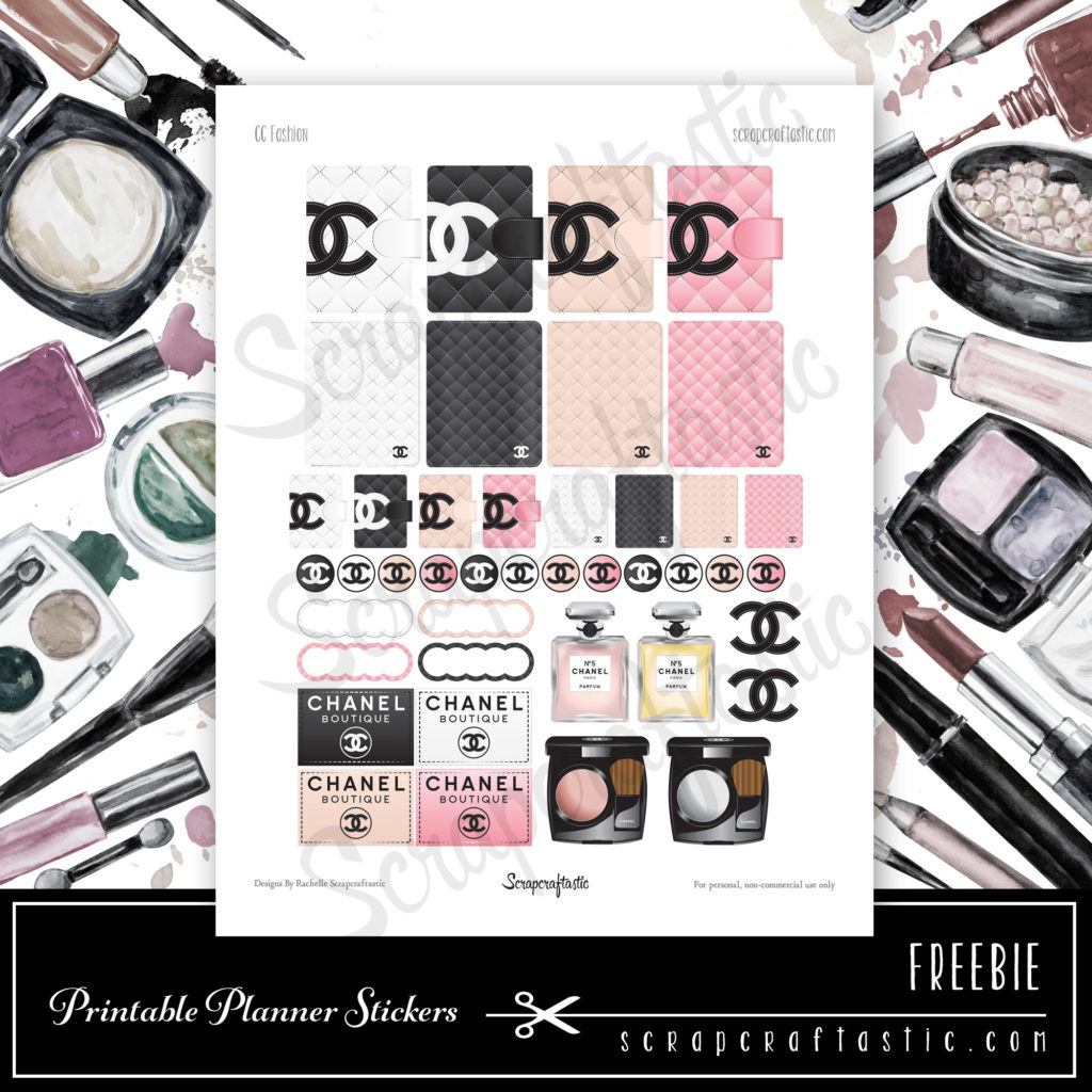 photo relating to Printable Fashion named Totally free Modern-day Printable Planner Stickers - Scraftastic