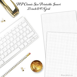 Happy Planner Grid Printable Insert