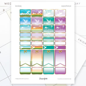 Remembering FREE Printable Planner Stickers for MAMBI Happy Planner