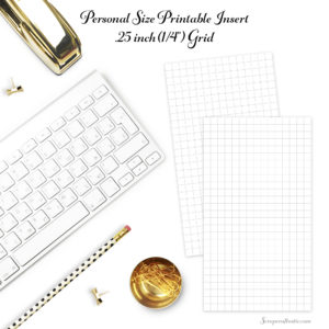 Sign In Free Quarter Inch Grid Personal Size Planner Printable Insert