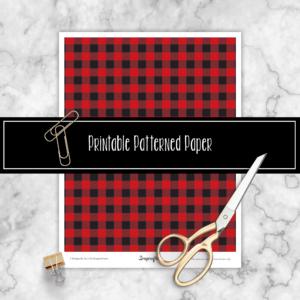 Buffalo Plaid Free Printable Patterned Paper