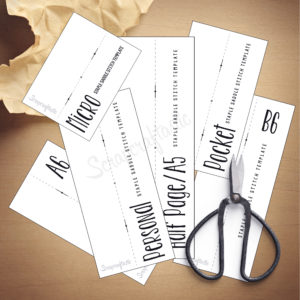 Traveler's Notebook Saddle-stitch Templates