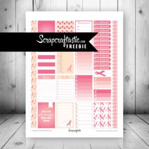 Pinktober FREE Printable Planner Stickers