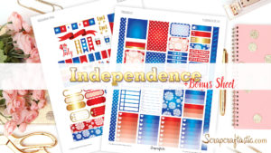 Independence + Bonus Printable Planner Stickers
