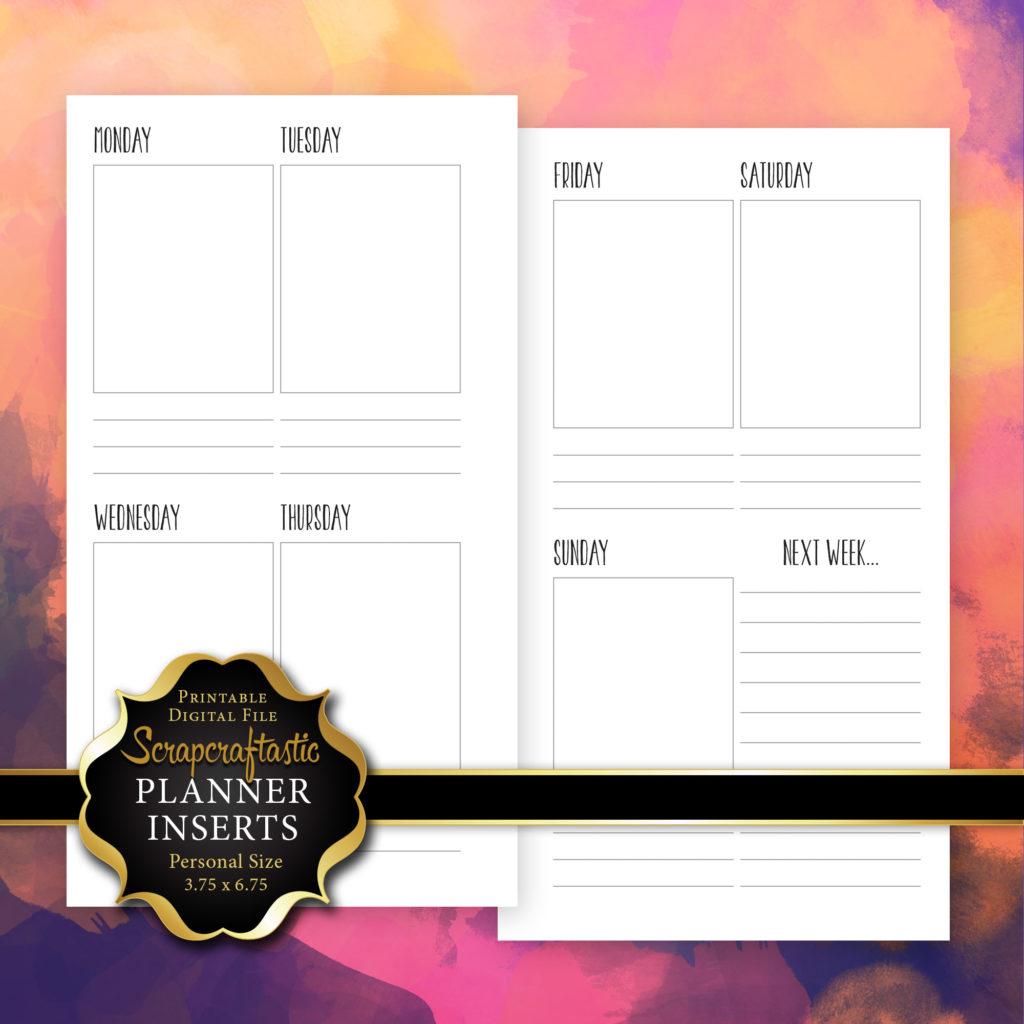 Planner Printable Insert Refill