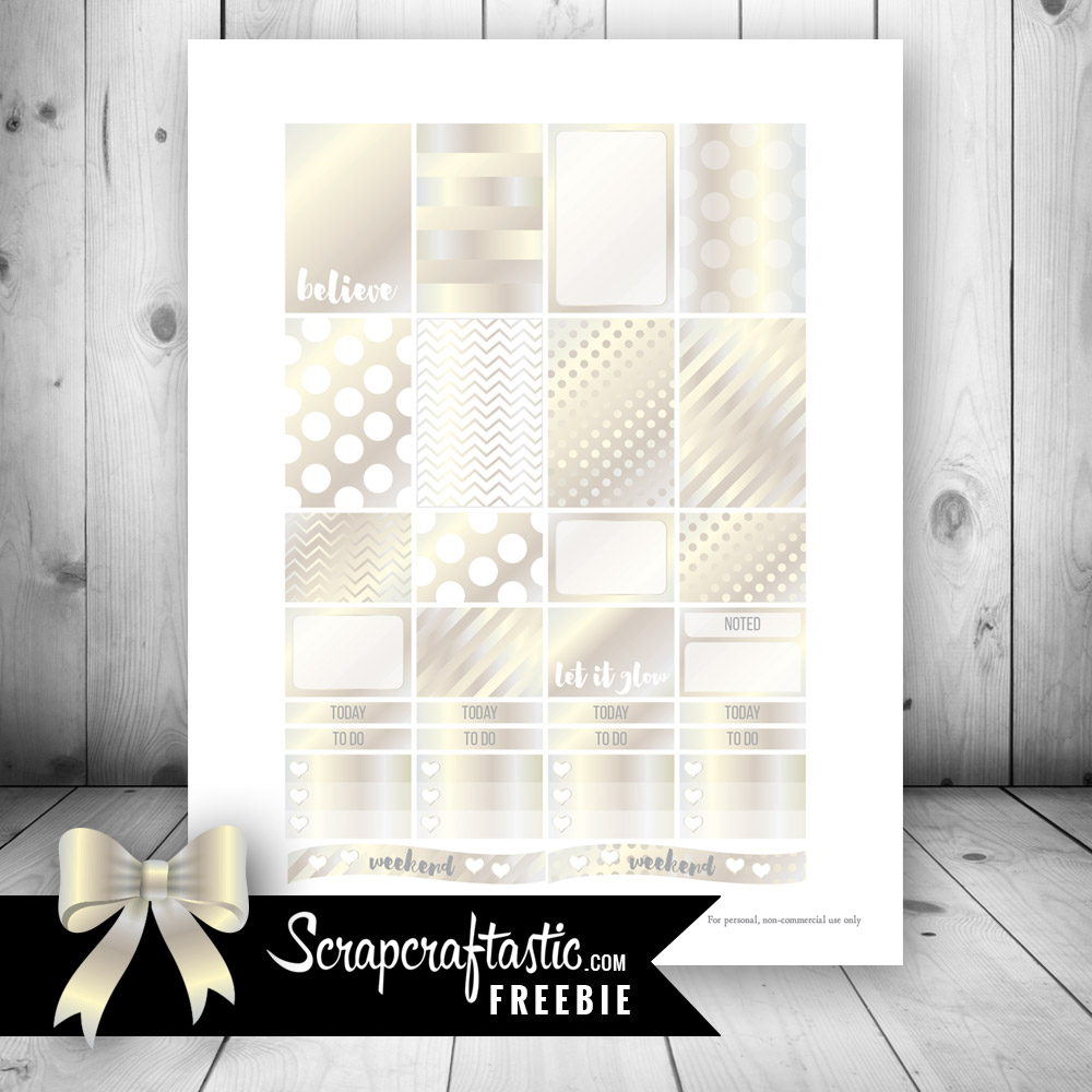Champagne Free Printable Planner Stickers