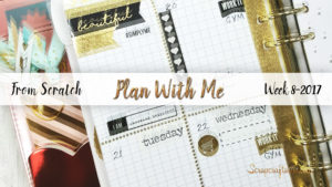 "Week 8-2017 / Plan With Me ""From Scratch"" for A5 Michael's Recollections Planner"