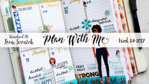 "Week 14-2017 / Plan With Me ""From Scratch"" Traveler's Notebook Standard Size"