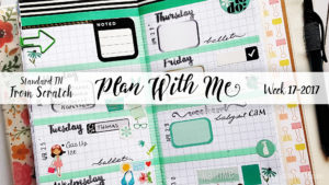 "Week 17-2017 / Plan With Me ""From Scratch"" Traveler's Notebook Standard Size"