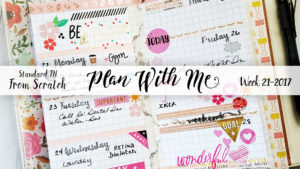 "Week 21-2017 / Plan With Me ""From Scratch"" Traveler's Notebook Standard Size"