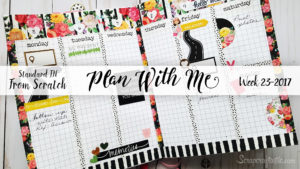 "Week 23-2017 / Plan With Me ""From Scratch"" Traveler's Notebook Standard Size"
