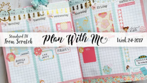 "Week 24-2017 / Plan With Me ""From Scratch"" Traveler's Notebook Standard Size"