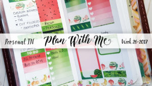 Week 26-2017 / Plan With Me Traveler's Notebook Personal Size Printable Inserts