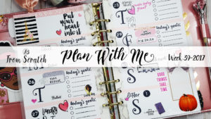 "Week 39-2017 / Plan With Me ""From Scratch"" A5 Recollections 6 Ring Planner Binder"
