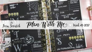 "Week 41-2017 / Plan With Me ""From Scratch"" A5 Recollections 6 Ring Planner Binder"
