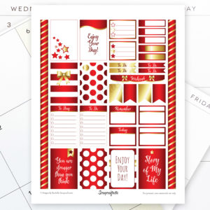 All Crimson Pro Printable Planner Stickers for MAMBI Happy Planner