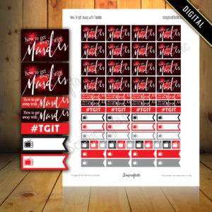 How to get away with Murder TV Show Printable Planner Stickers