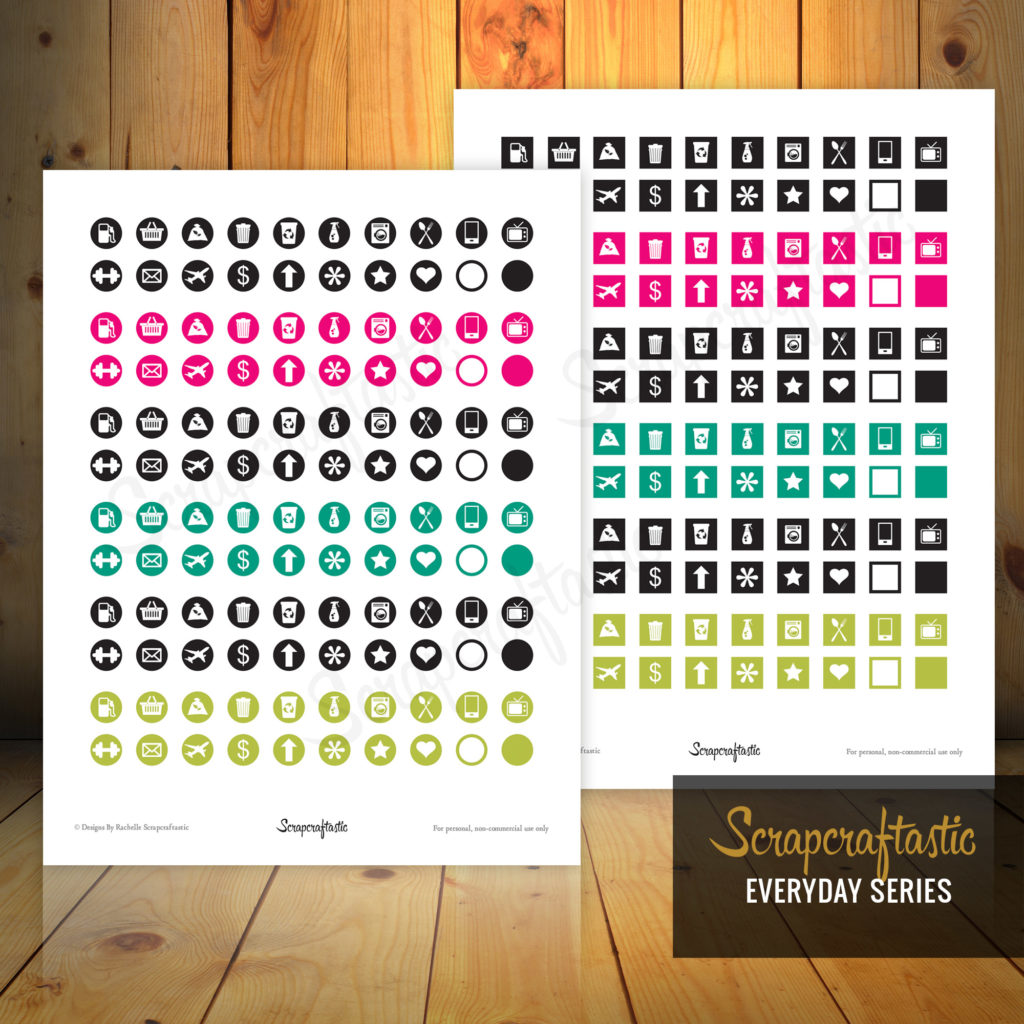 Planner Pro Icon Set Printable Planner Stickers