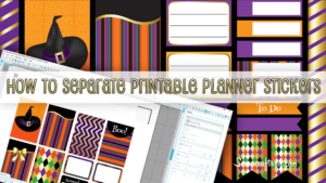 How to Work with Printable Planner Stickers in Silhouette Studio