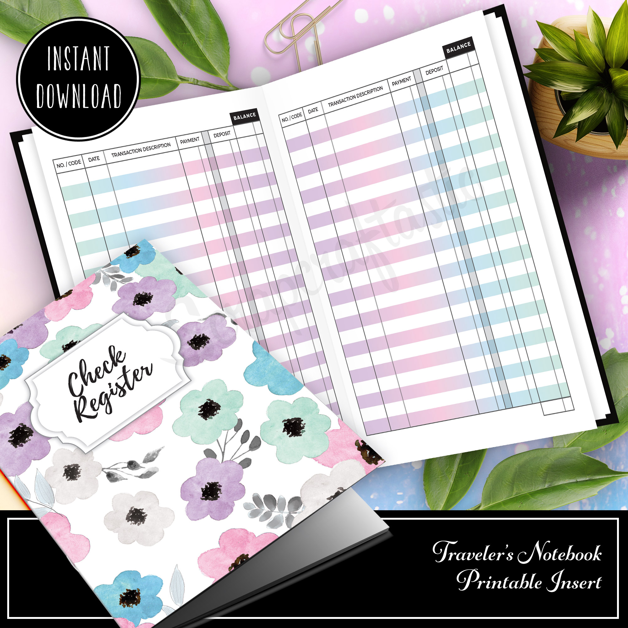 This is a graphic of Monster Printable Check Register Half Page